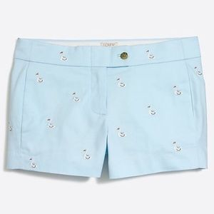 """J.Crew Factory 3"""" Embroidered Chino Shorts NWT"""